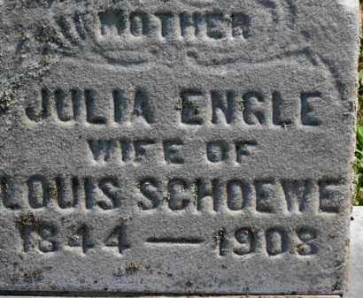ENGLE SCHOEWE, JULIA - Erie County, Ohio | JULIA ENGLE SCHOEWE - Ohio Gravestone Photos