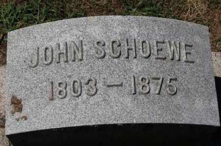 SCHOEWE, JOHN - Erie County, Ohio | JOHN SCHOEWE - Ohio Gravestone Photos