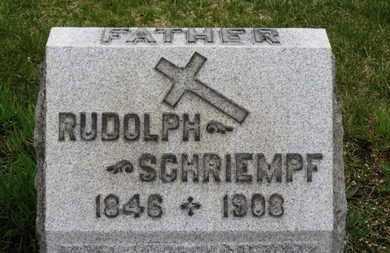 SCHRIEMPF, RUDOLPH - Erie County, Ohio | RUDOLPH SCHRIEMPF - Ohio Gravestone Photos