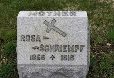 SCHRIEMPF, ROSA - Erie County, Ohio | ROSA SCHRIEMPF - Ohio Gravestone Photos