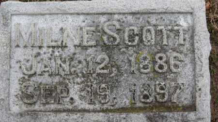 SCOTT, MILNE - Erie County, Ohio | MILNE SCOTT - Ohio Gravestone Photos