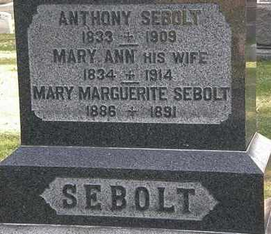 SEBOLT, MARY MARGUERITE - Erie County, Ohio | MARY MARGUERITE SEBOLT - Ohio Gravestone Photos