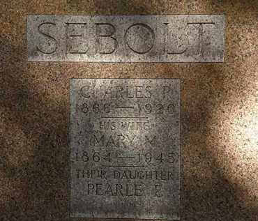 SEBOLT, PEARLE E. - Erie County, Ohio | PEARLE E. SEBOLT - Ohio Gravestone Photos