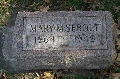 SEBOLT, MARY M. - Erie County, Ohio | MARY M. SEBOLT - Ohio Gravestone Photos