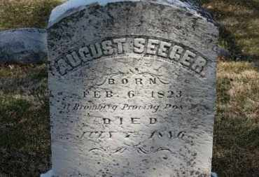 SEEGER, AUGUST - Erie County, Ohio | AUGUST SEEGER - Ohio Gravestone Photos