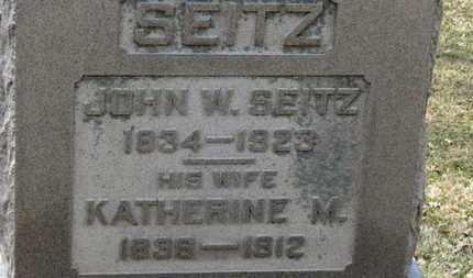 SEITZ, KATHERINE M. - Erie County, Ohio | KATHERINE M. SEITZ - Ohio Gravestone Photos