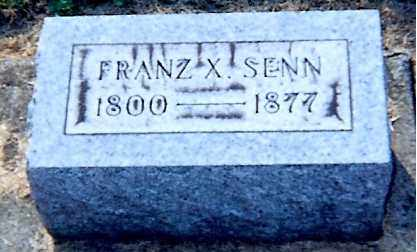 SENN, FRANZ X - Erie County, Ohio | FRANZ X SENN - Ohio Gravestone Photos
