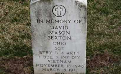 SEXTON, DAVID MASON - Erie County, Ohio | DAVID MASON SEXTON - Ohio Gravestone Photos