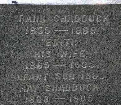 SHADDUCK, EDITH - Erie County, Ohio | EDITH SHADDUCK - Ohio Gravestone Photos