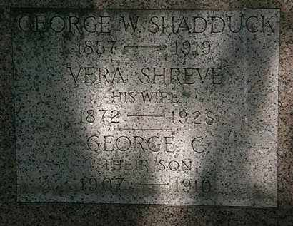 SHADDUCK, GEORGE C. - Erie County, Ohio | GEORGE C. SHADDUCK - Ohio Gravestone Photos