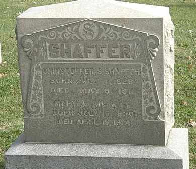 SHAFFER, MARY J. - Erie County, Ohio | MARY J. SHAFFER - Ohio Gravestone Photos