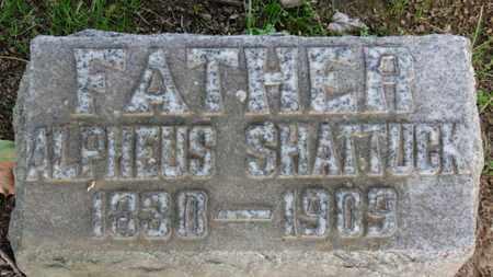 SHATTUCK, ALPHEUS - Erie County, Ohio | ALPHEUS SHATTUCK - Ohio Gravestone Photos