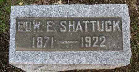 SHATTUCK, EDW. E. - Erie County, Ohio | EDW. E. SHATTUCK - Ohio Gravestone Photos