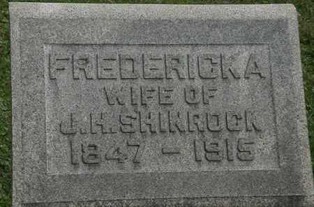 SHINROCK, FREDERICKA - Erie County, Ohio   FREDERICKA SHINROCK - Ohio Gravestone Photos