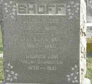 SHOFF, HANNAH ANN - Erie County, Ohio | HANNAH ANN SHOFF - Ohio Gravestone Photos