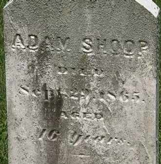SHOOP, ADAM - Erie County, Ohio | ADAM SHOOP - Ohio Gravestone Photos