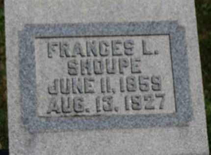 SHOUPE, FRANCES L. - Erie County, Ohio | FRANCES L. SHOUPE - Ohio Gravestone Photos