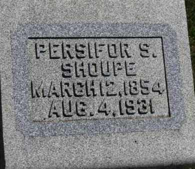SHOUPE, PERSIFOR S. - Erie County, Ohio | PERSIFOR S. SHOUPE - Ohio Gravestone Photos