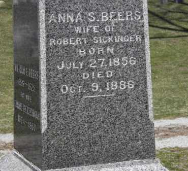 SICKINGER, ANNA S. - Erie County, Ohio | ANNA S. SICKINGER - Ohio Gravestone Photos
