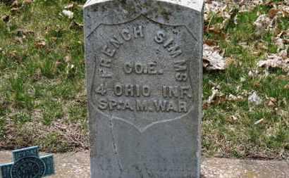 SIMMS, FRENCH - Erie County, Ohio   FRENCH SIMMS - Ohio Gravestone Photos