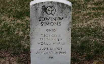 SIMONS, EDWIN W. - Erie County, Ohio | EDWIN W. SIMONS - Ohio Gravestone Photos