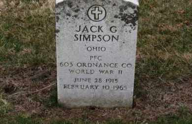 SIMPSON, JACK G. - Erie County, Ohio | JACK G. SIMPSON - Ohio Gravestone Photos
