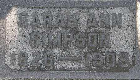 SIMPSON, SARAH ANN - Erie County, Ohio | SARAH ANN SIMPSON - Ohio Gravestone Photos