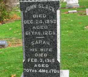 SLACK, JOHN - Erie County, Ohio | JOHN SLACK - Ohio Gravestone Photos