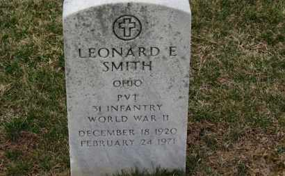 SMITH, LEONARD E. - Erie County, Ohio | LEONARD E. SMITH - Ohio Gravestone Photos