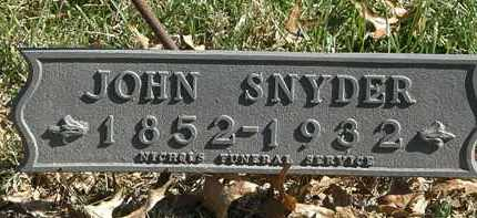 SNYDER, JOHN - Erie County, Ohio | JOHN SNYDER - Ohio Gravestone Photos