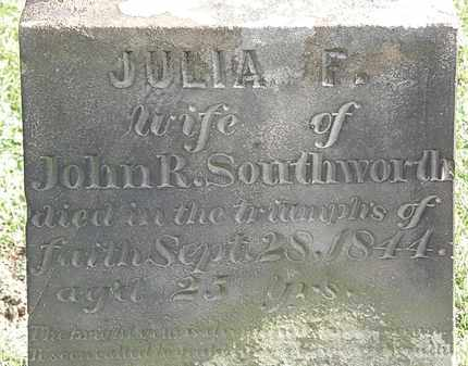 SOUTHWORTH, JULIA F. - Erie County, Ohio | JULIA F. SOUTHWORTH - Ohio Gravestone Photos
