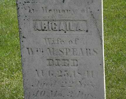 SPEARS, ABIGAIL A. - Erie County, Ohio | ABIGAIL A. SPEARS - Ohio Gravestone Photos
