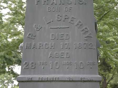 SPERRY, FRANCIS - Erie County, Ohio | FRANCIS SPERRY - Ohio Gravestone Photos