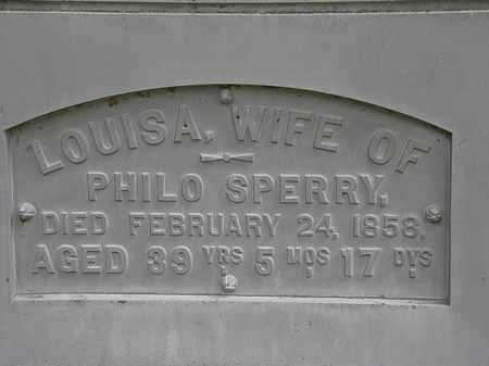 SPERRY, LOUISA - Erie County, Ohio | LOUISA SPERRY - Ohio Gravestone Photos