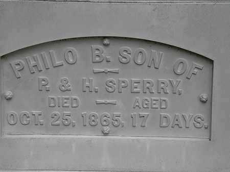 SPERRY, PHILO B. - Erie County, Ohio | PHILO B. SPERRY - Ohio Gravestone Photos