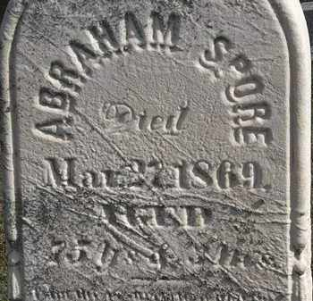 SPORE, ABRAHAM - Erie County, Ohio | ABRAHAM SPORE - Ohio Gravestone Photos