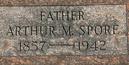 SPORE, ARTHUR M. - Erie County, Ohio | ARTHUR M. SPORE - Ohio Gravestone Photos