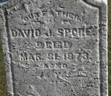 SPORE, DAVID J. - Erie County, Ohio | DAVID J. SPORE - Ohio Gravestone Photos
