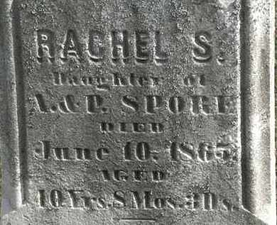 SPORE, RACHEL S. - Erie County, Ohio | RACHEL S. SPORE - Ohio Gravestone Photos