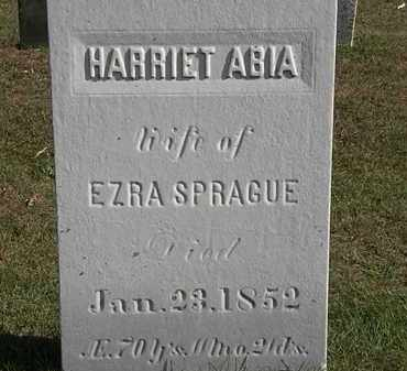 ABIA SPRAGUE, HARRIET - Erie County, Ohio | HARRIET ABIA SPRAGUE - Ohio Gravestone Photos