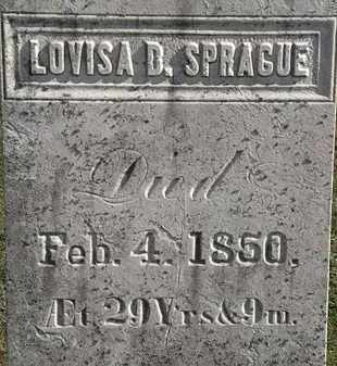 SPRAGUE, LOUVISA D. - Erie County, Ohio | LOUVISA D. SPRAGUE - Ohio Gravestone Photos