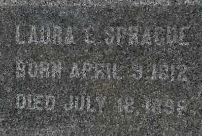 SPRAGUE, LAURA C. - Erie County, Ohio | LAURA C. SPRAGUE - Ohio Gravestone Photos