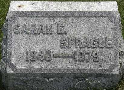 SPRAGUE, SARAH E. - Erie County, Ohio | SARAH E. SPRAGUE - Ohio Gravestone Photos