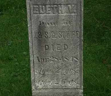 SQUIRE, J. - Erie County, Ohio | J. SQUIRE - Ohio Gravestone Photos
