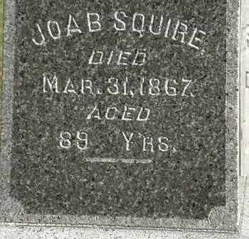 SQUIRE, JOAB - Erie County, Ohio | JOAB SQUIRE - Ohio Gravestone Photos