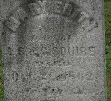 SQUIRE, MARY EDITH - Erie County, Ohio | MARY EDITH SQUIRE - Ohio Gravestone Photos