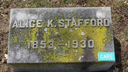 STAFFORD, ALICE K. - Erie County, Ohio | ALICE K. STAFFORD - Ohio Gravestone Photos