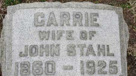 STAHL, CARRIE - Erie County, Ohio | CARRIE STAHL - Ohio Gravestone Photos