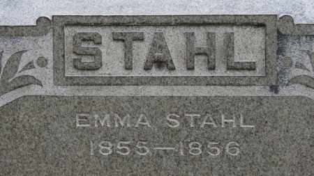 STAHL, EMMA - Erie County, Ohio | EMMA STAHL - Ohio Gravestone Photos