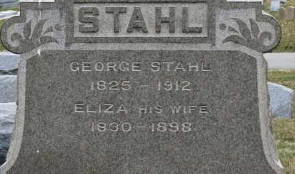 STAHL, ELIZA - Erie County, Ohio | ELIZA STAHL - Ohio Gravestone Photos